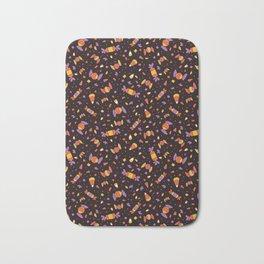 Cute Halloween Candy Corn Pattern Bath Mat