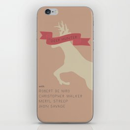The Deer Hunter, Minimal movie poster, Michael Cimino film, alternative, Christopher Walken, De Niro iPhone Skin