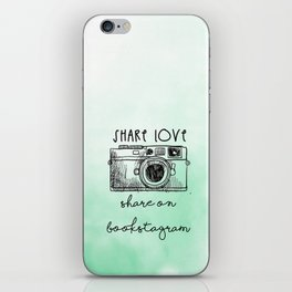 SHARE LOVE . SHARE ON BOOKSTAGRAM iPhone Skin