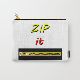Zip it Black Yellow Red jGibney The MUSEUM Gifts Carry-All Pouch