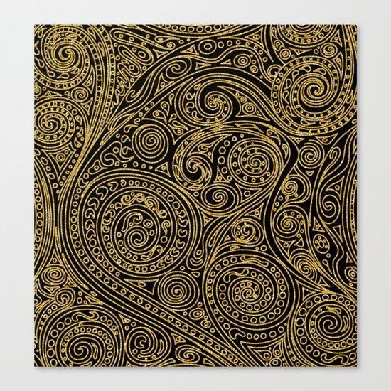 Golden spiral pattern Canvas Print
