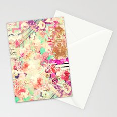 Flowers Mix Vintage Patchwork Stationery Cards