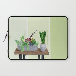 Cacti and Succulents on Greens Laptop Sleeve