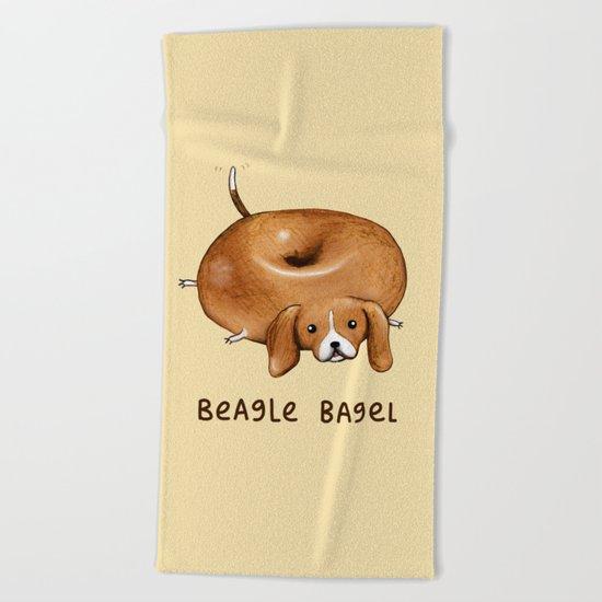 Beagle Bagel Beach Towel