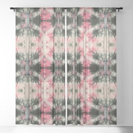 Fireworks Shibori Sheer Curtain