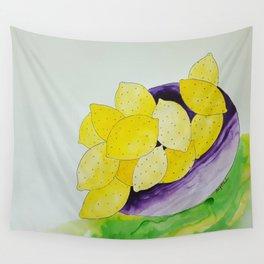 Lemon Bowl Wall Tapestry