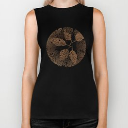 brown autumn Biker Tank