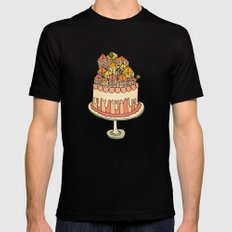 Cake Town MEDIUM Mens Fitted Tee Black