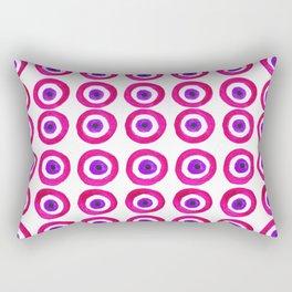 Evil Eye Amulet Talisman in Pink Rectangular Pillow