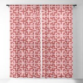 Nordic Coral - Scandinavian Cross Minimalism Sheer Curtain