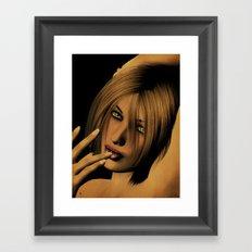 Naughty in the Dark Framed Art Print