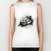 sneaker Biker Tanks featuring Sneaker by Nicu Balan
