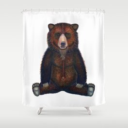 Blissed Out Bear Shower Curtain