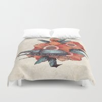 hercules Duvet Covers featuring Hercules Beetle by Angela Rizza