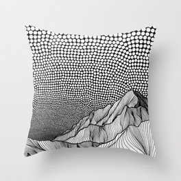 Into Nowhere Throw Pillow