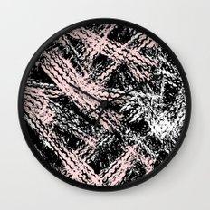 Desert Tracks Pink Wall Clock