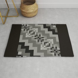 FREEWAY grey shades black geometric diagonal design Rug