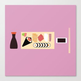 Soy Sauce Meal Canvas Print