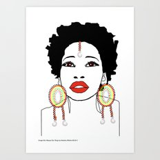 Maasai Earrings Art Print