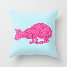 Pink Tammy Throw Pillow