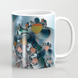Follow me! -- Creatures in a fractal landscape Coffee Mug