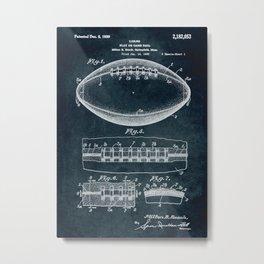 1938 Play or game ball patent art Metal Print