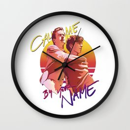 Call Me By Your Name Retro Sunset Wall Clock