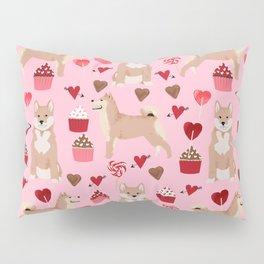 Shiba Inu dog breed love cupcakes hearts valentines day pet gifts Shiba inus Pillow Sham