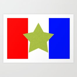 Design4 Red White and Blue Art Print