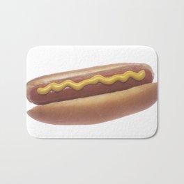 Hot Dog with Mustard Bath Mat