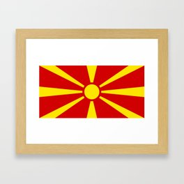 Flag of Macedonia - authentic (High Quality image) Framed Art Print