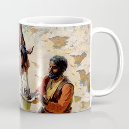 """William Leigh Western Art """"One Good Turn"""" Coffee Mug"""