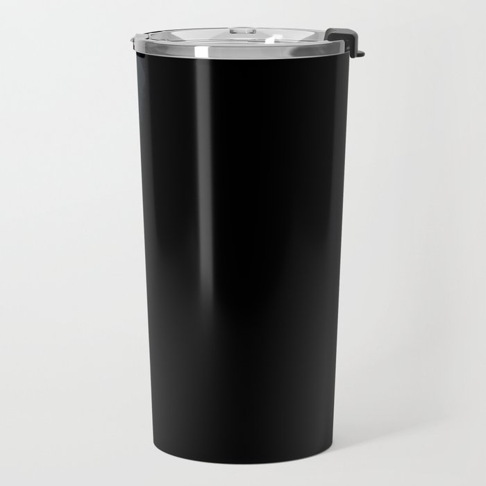 Waves on a black sand beach in iceland - minimalist Landscape Photography Travel Mug