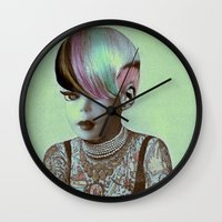 barbie Wall Clocks featuring BARBIE ILLUSTRATED by Julia Lillard Art