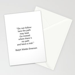 Ralph Waldo Emerson Quote - Leave a trail Stationery Cards