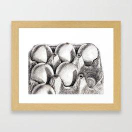 Egg in Carton Framed Art Print
