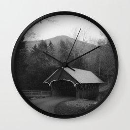 New England Classic Covered Bridge Wall Clock