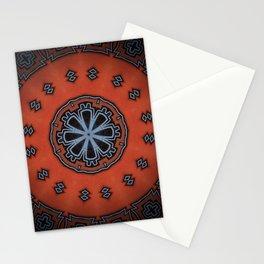 Canyon Sunset // Vibrant Orange Southwest Geometric Tribal Abstract Circular Rustic Bohemian Stationery Cards