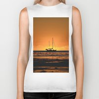 sailboat Biker Tanks featuring Sailboat  by GG's photography.