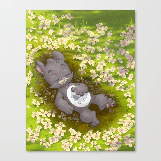 Flowery Death Canvas Print