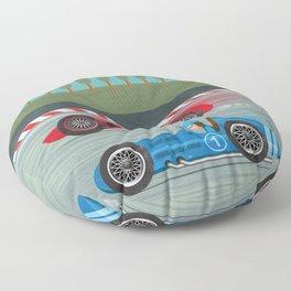 Retro Racing Floor Pillow