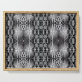 Urban abstract seamless techno-pattern with calligraphic elements Serving Tray