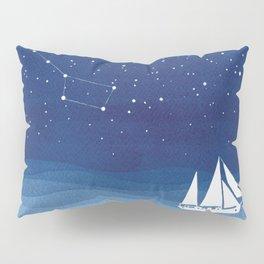big dipper, sailboat Pillow Sham