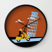 italy Wall Clocks featuring Italy by Laurel Natale