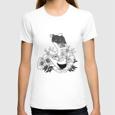 I'm not mad, I'm hurt SMALL Womens Fitted Tee White