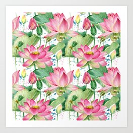 lotus flowers Art Print
