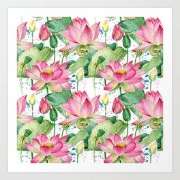 lotus flowers Art Print