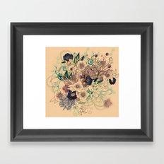 Zentangle Floral mix Framed Art Print