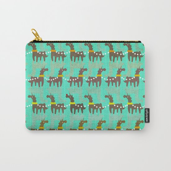Unicorn Red Nose Carry-All Pouch