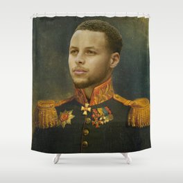 Steph Curry Classical Painting Shower Curtain